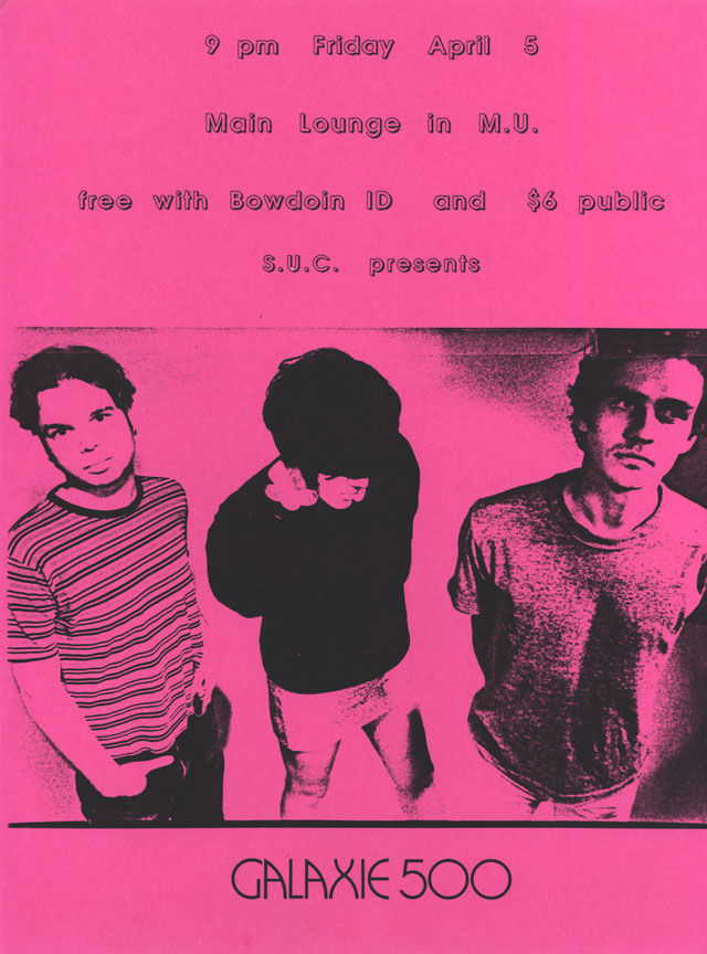 Poster for the last Galaxie 500 show