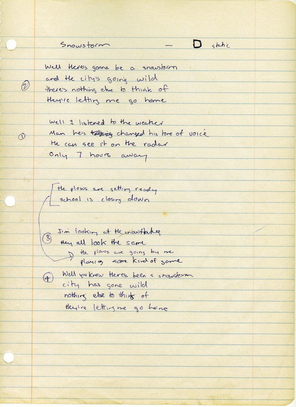 Snowstorm lyrics