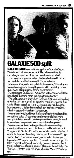 Galaxie 500 split