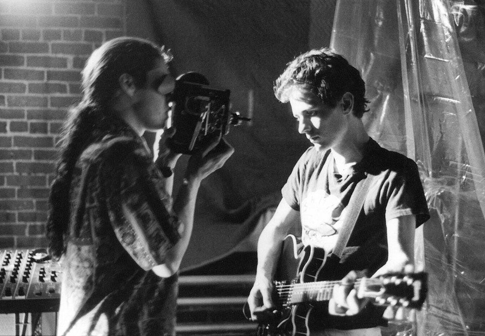 Dean Wareham with Sergio Huidor filming the video for When Will You Come Home