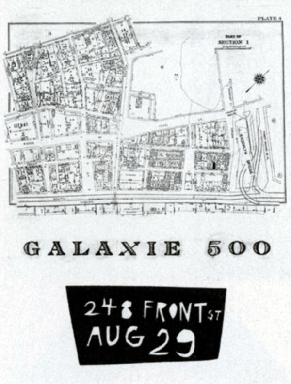Flyer for Galaxie 500's first show (Design: Naomi Yang)