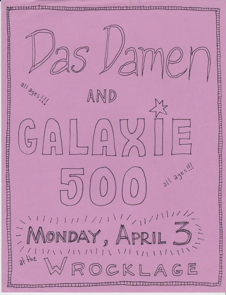 Poster for 3 April 1989 at Wrocklage, Lexington, KY, USA