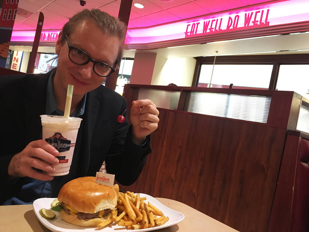 Milkshake and a burger