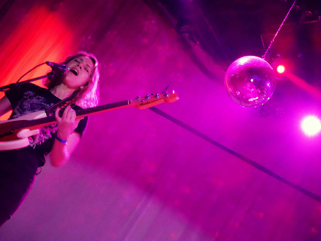 Britta and the disco ball (Photo: Joakim)