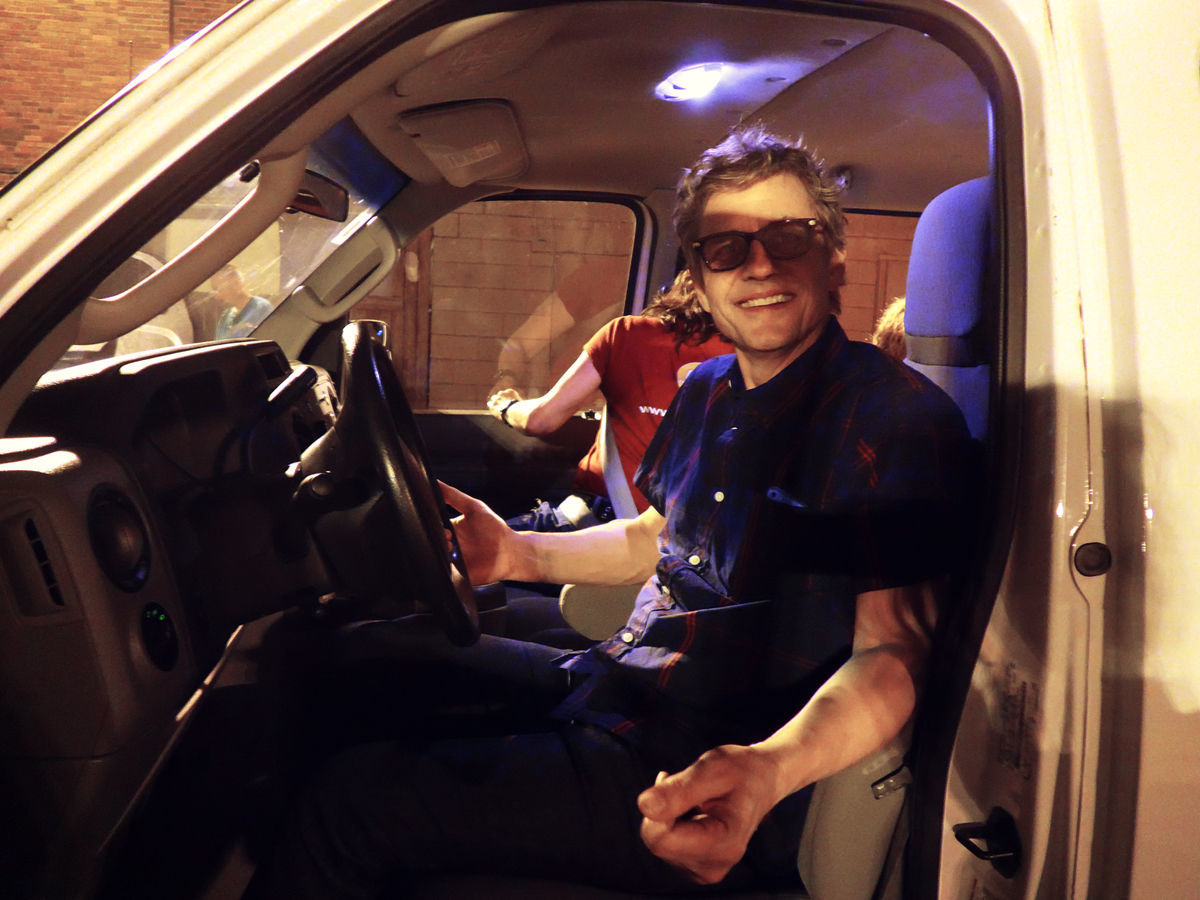 Dean is driving the tour van