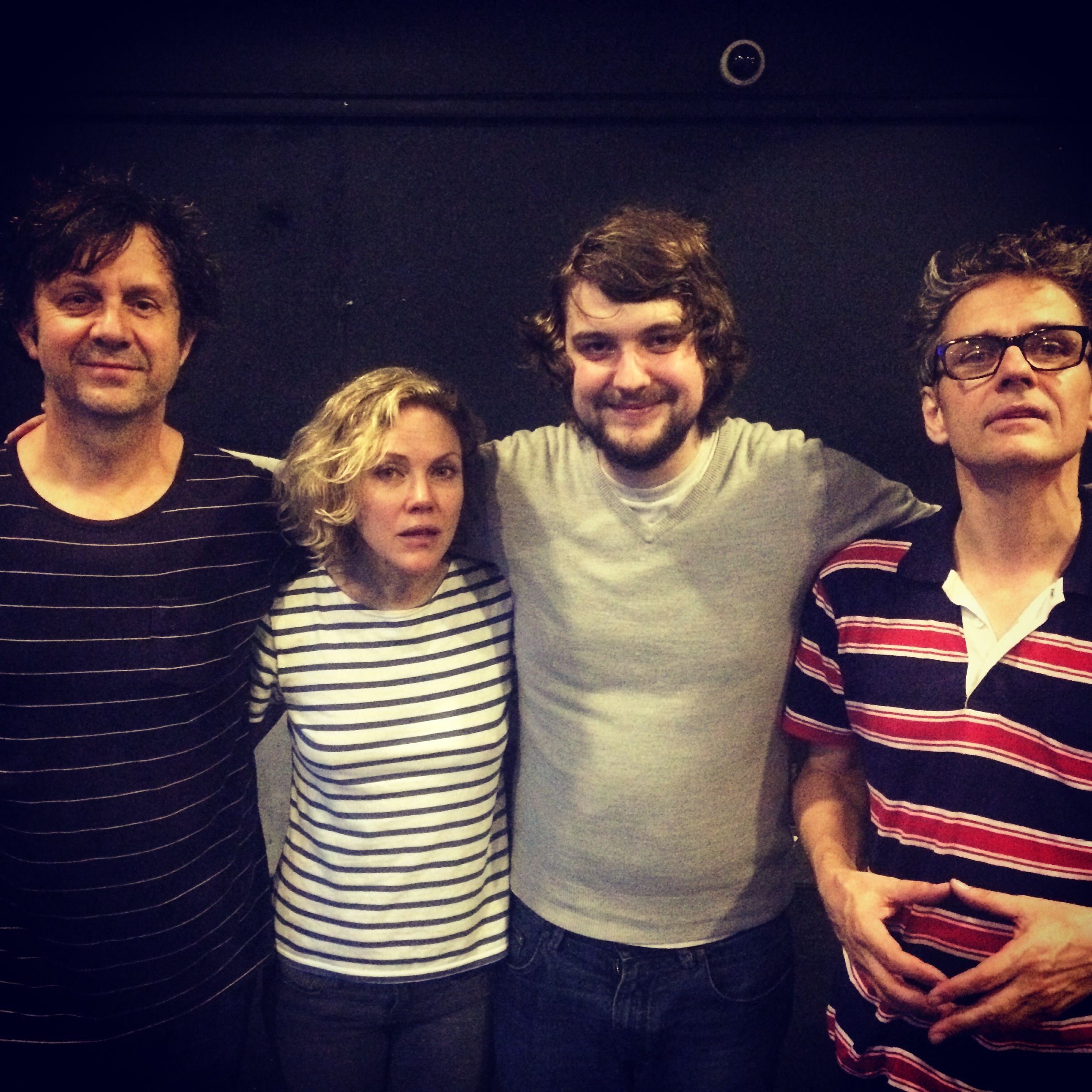 James in LA with Sean, Britta and Dean (Photo: James - taken in Manchester in August)