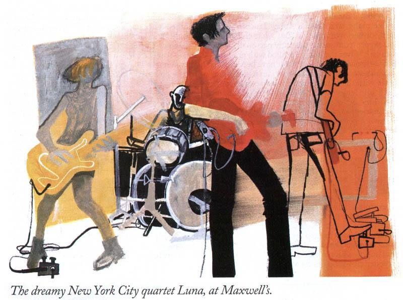 The dreamy New York City quartet Luna (Annabel Wright)
