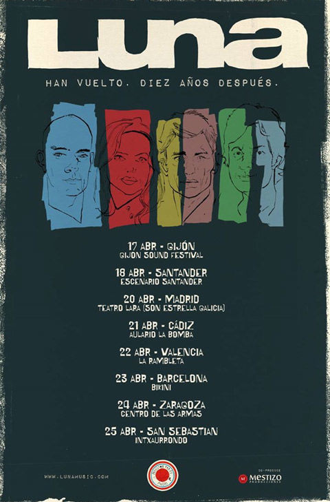 Flyer for Luna's tour of Spain in 2015