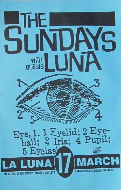 Poster for 17 March 1994 at La Luna, Portland OR, USA