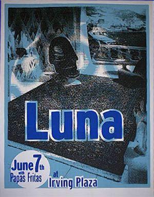 Poster for Luna at Irving Plaza, 1996