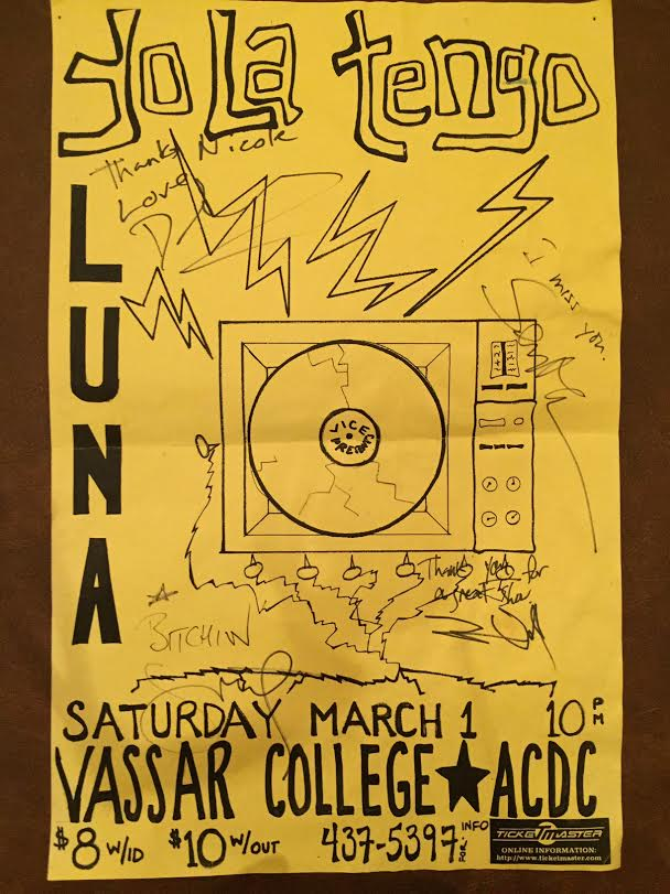 Poster for 1 March 1997 at Vassar College, Poughkeepsie, NY, USA