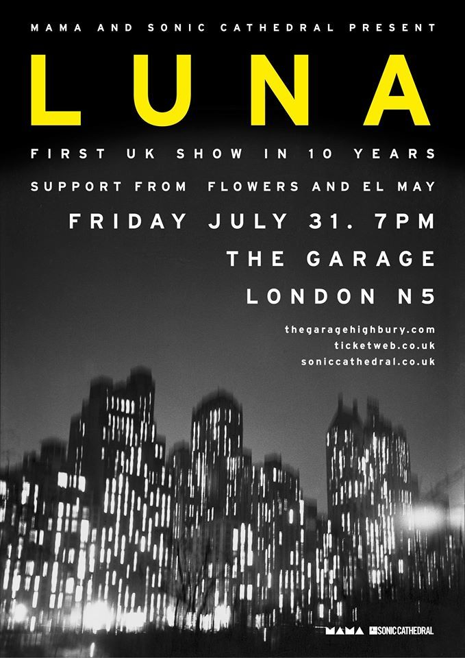 Poster for 31 July 2015 at The Garage, London, UK