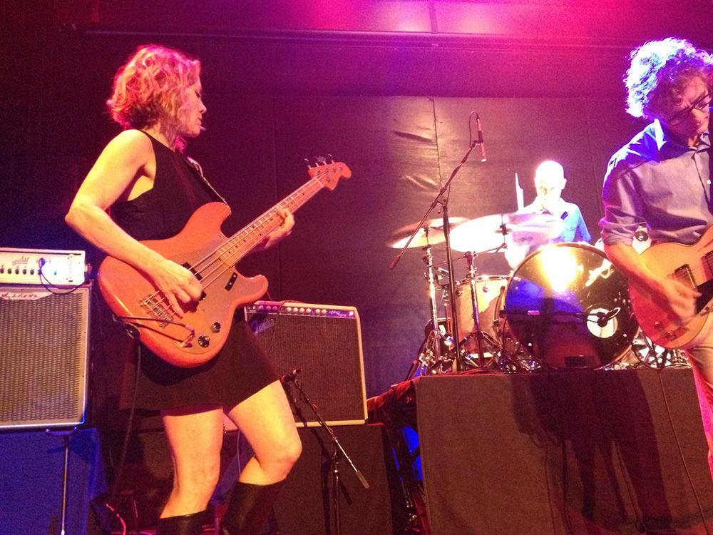 Britta keeping it melodically heavy at The Bowery Ballroom (Photo: Joakim)