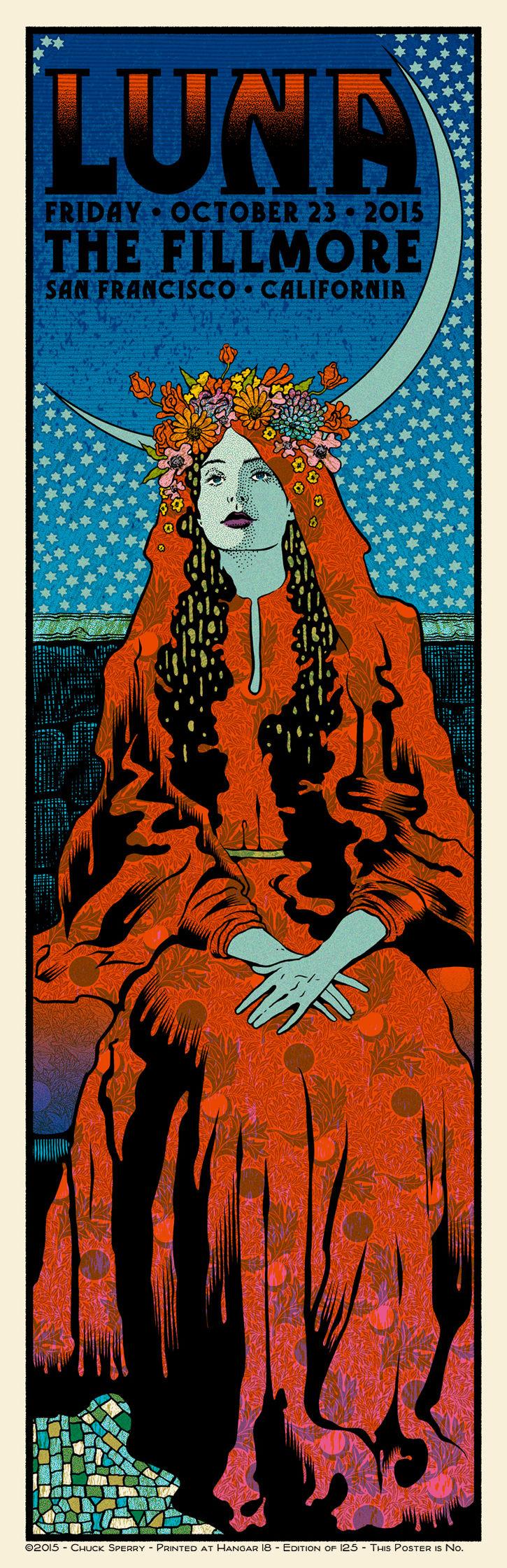 Poster for 23 October 2015 at The Fillmore, San Francisco, CA, USA