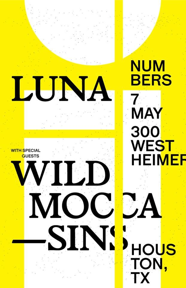 Poster for 7 May 2016 at Numbers, Houston, TX, USA