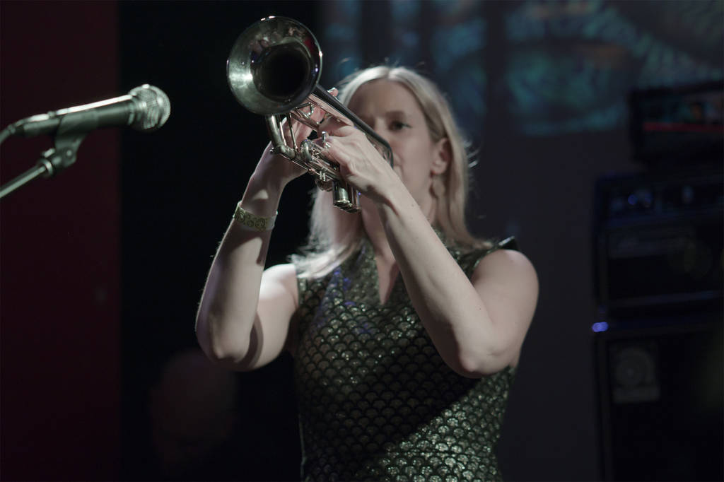 Kelly on trumpet (photo: Joakim)