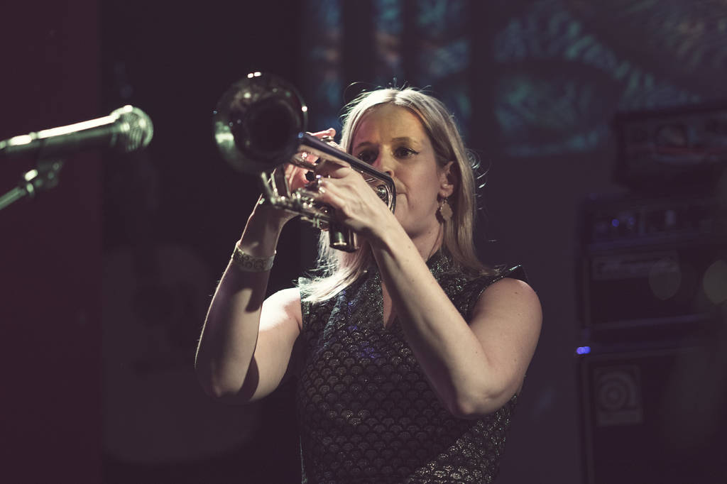Kelly on trumpet during Bewitched (photo: Joakim)