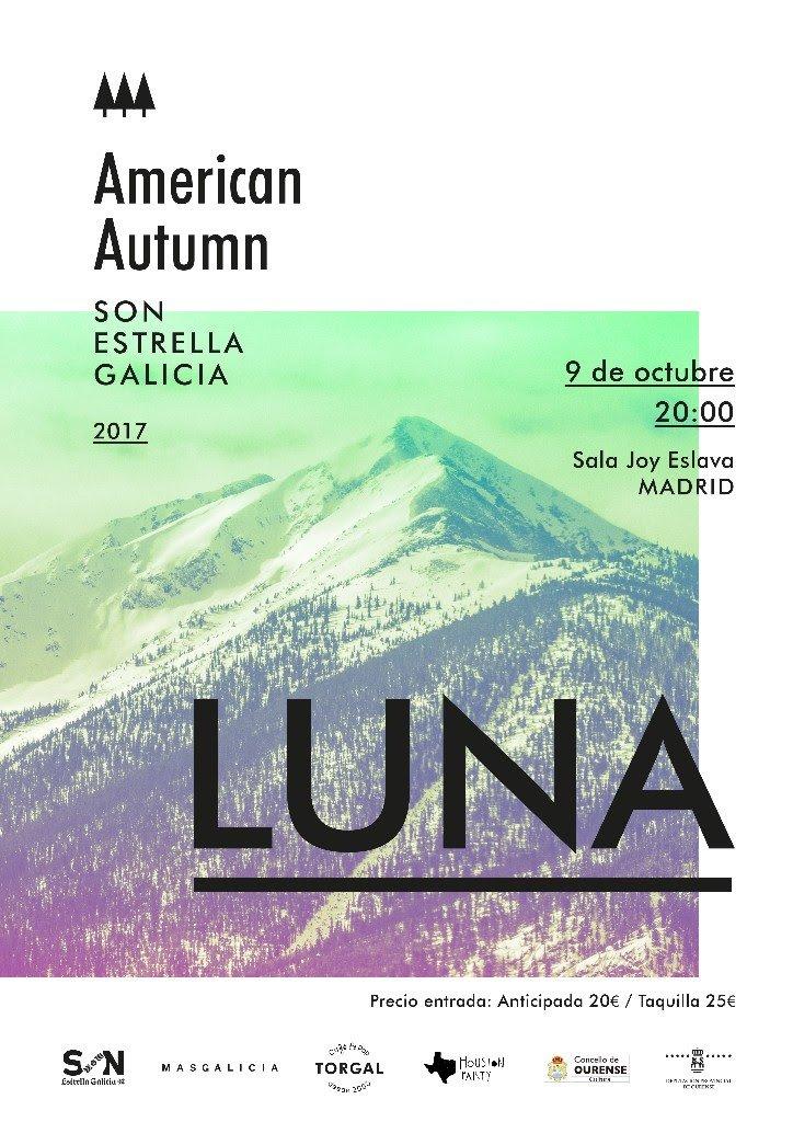 Poster for 9 October 2017 at Sala Joy Eslava, Madrid, Spain