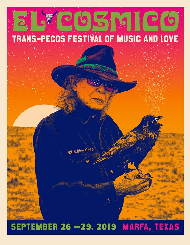 Poster for 26 September 2019 at Trans-Pecos Festival of Music + Love, Marfa, TX, USA