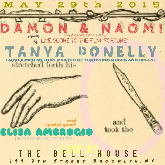 Damon & Naomi at The Bell House flyer