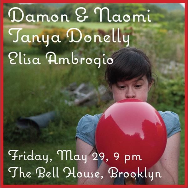 Damon & Naomi at the Bell House flyer #2