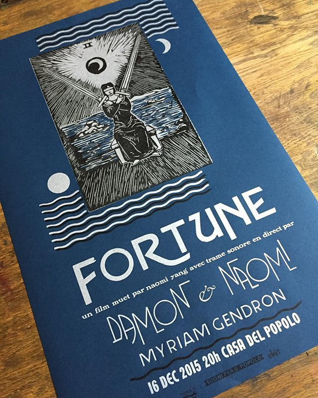 Poster for Damon & Naomi in Montreal (Photo: <a href='https://www.instagram.com/p/-cIhHrQXJo/'>Popolopress</a>)