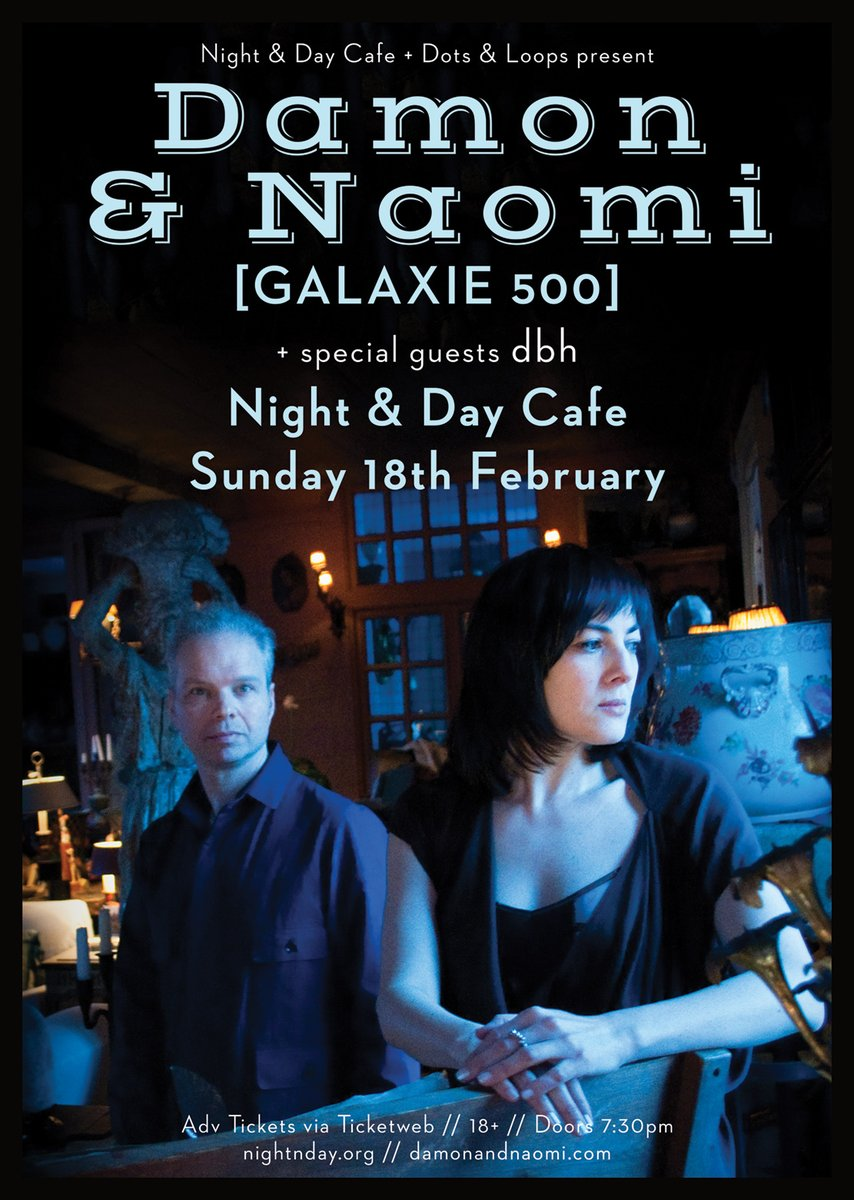 Poster for 18 February 2018 at Night and Day Cafe, Manchester, UK