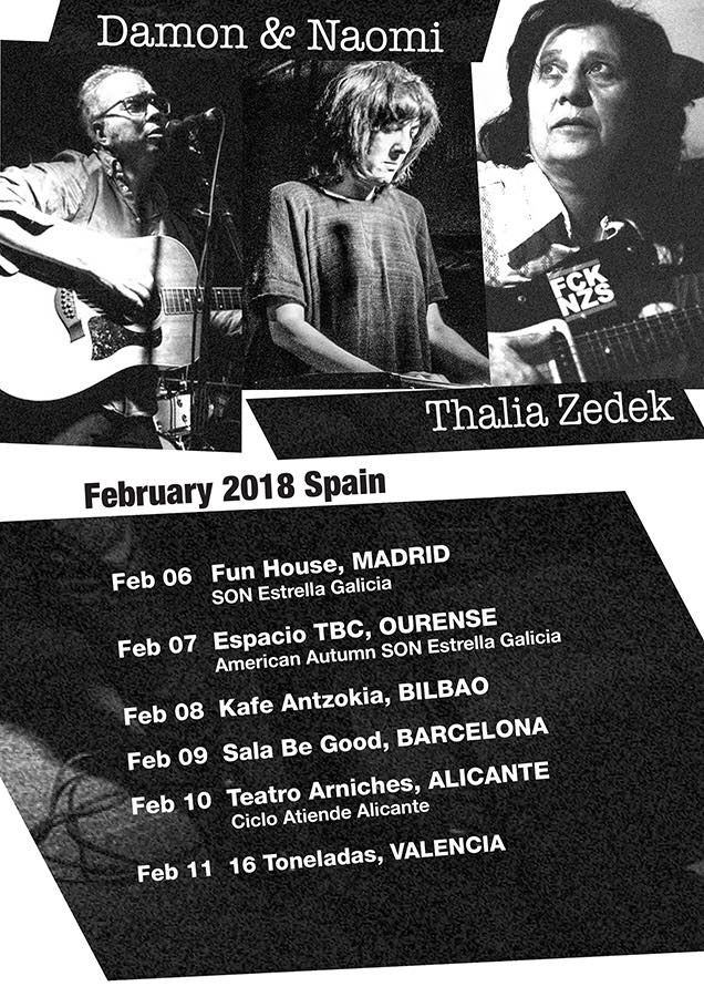 Poster for 11 February 2018 at 16 Toneladas, Valencia, Spain