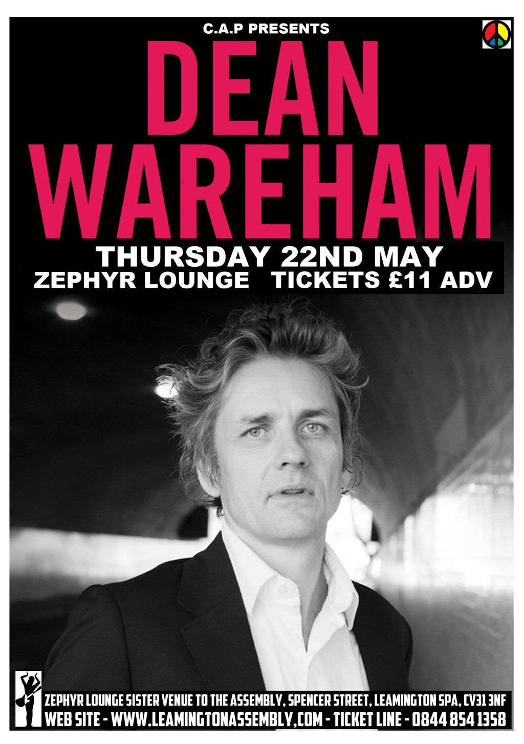 Poster for 22 May 2014 at The Zephyr Lounge, Leamington Spa, UK