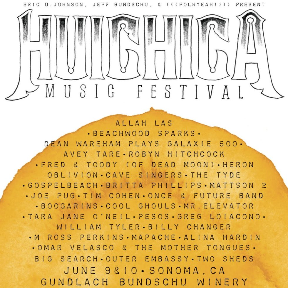 Poster for 10 June 2017 at Huichica Music Festival, Sonoma, CA, USA
