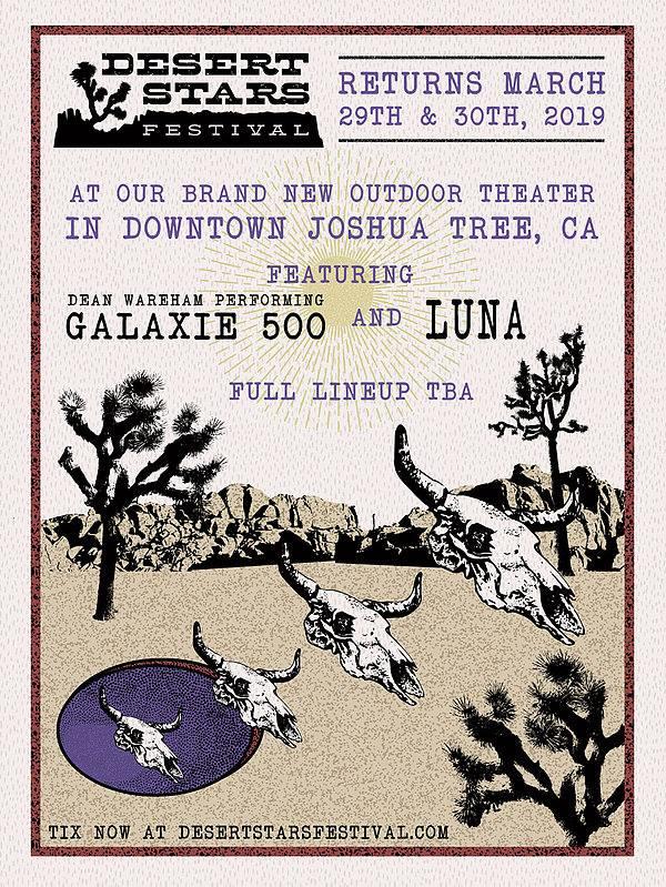 Poster for 30 March 2019 at Desert Stars Festival, Joshua Tree, CA, USA