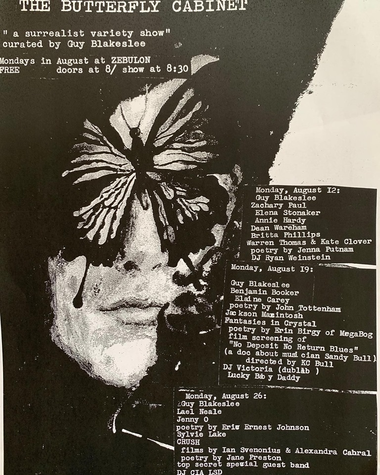 Poster for 12 August 2019 at Zebulon, Los Angeles, CA, USA