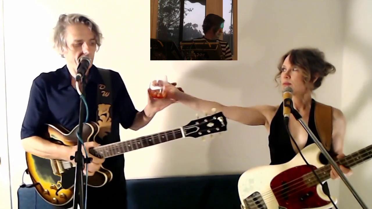 Dean & Britta share a drink