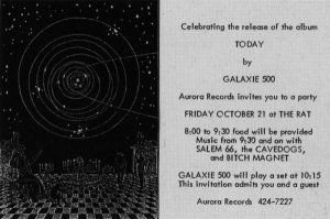 Galaxie 500 - invite to Today launch party