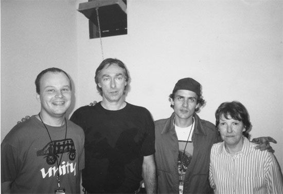 Stanley Demeski and Dean Wareham with Sterling Morrison and Moe Tucker in 1993 (photo: Stanley Demeski)