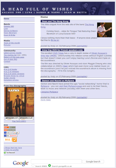 Screen grab from February 2006